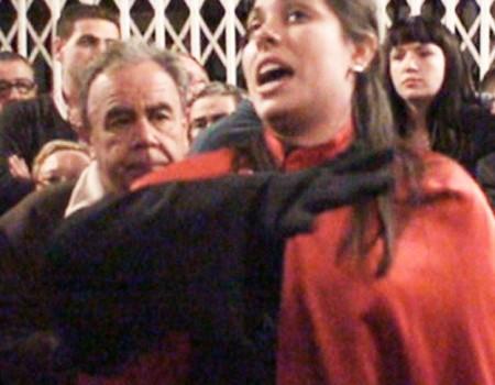 María José Pérez en el encierro de La Soledad Iglesia de Santiago  (I) | 2009
