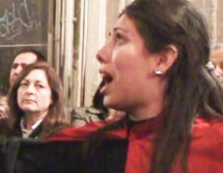 María José Pérez en el encierro de La Soledad Iglesia de Santiago  (II) | 2009
