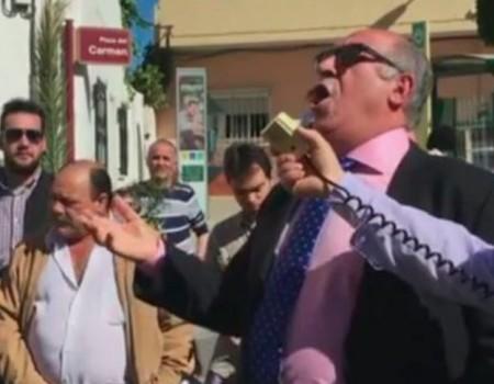 El Niño de las Cuevas por seguiriyas a la Borriquita en Viator | 2015