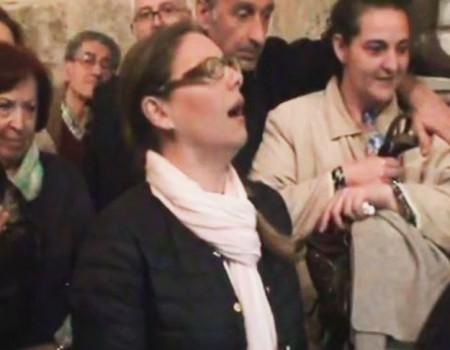 Montse a Nra Sra de los Dolores por carcelera a su recogida | 2015