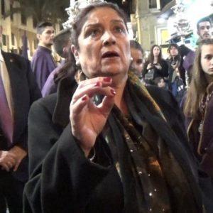 Antonia López a Pasión, saeta por carceleras a la Virgen de los Desamparados   2018