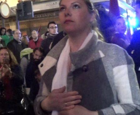 Montse Pérez, saeta por Carceleras a la Virgen de Gracia y Amparo con San Juan Evangelista | 2018
