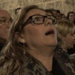 Montse Pérez saeta por carceleras a su aire a la recogida de la Soledad | 2018