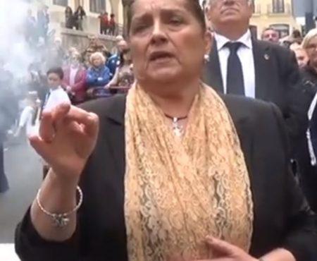 Antonia López a Ntra. Sra. de los Dolores, saeta por Carceleras. | 2019