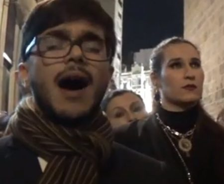 Eduardo López a la Soledad en su recogida saeta por seguirilla malageña | 2019