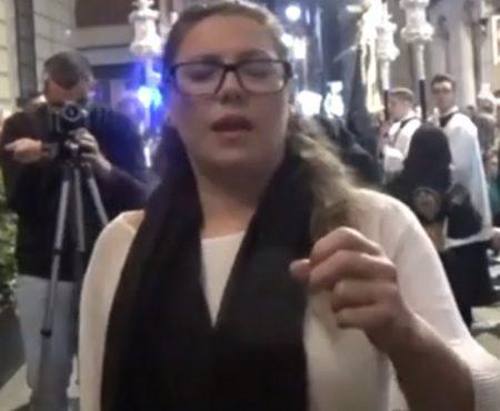 Montse Pérez a Jesús del Gran Poder saeta por toná | 2019